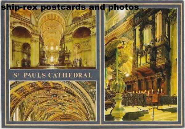 St Paul's Cathedral, London, postcard (e)